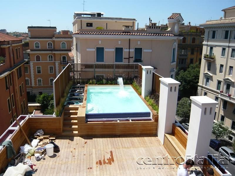 Piscine da terrazzo costruzione piscine in terrazzo centroitalia