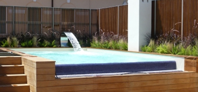 piscina in terrazzo realizzata da Centro Italia
