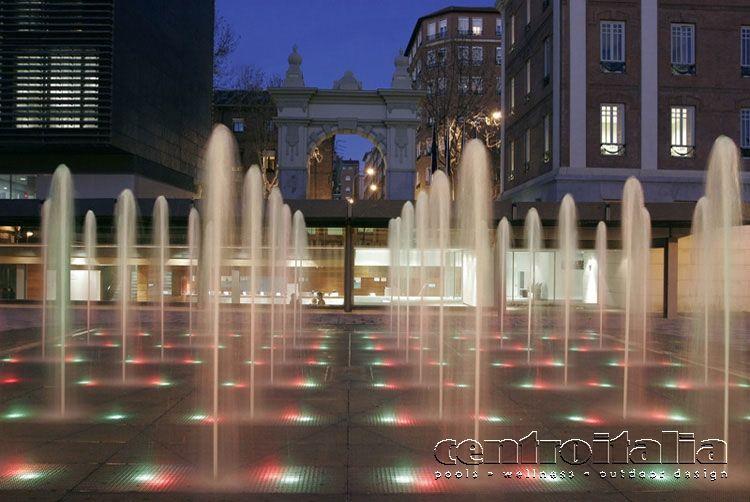 Fontana a pavimento di Centroitalia