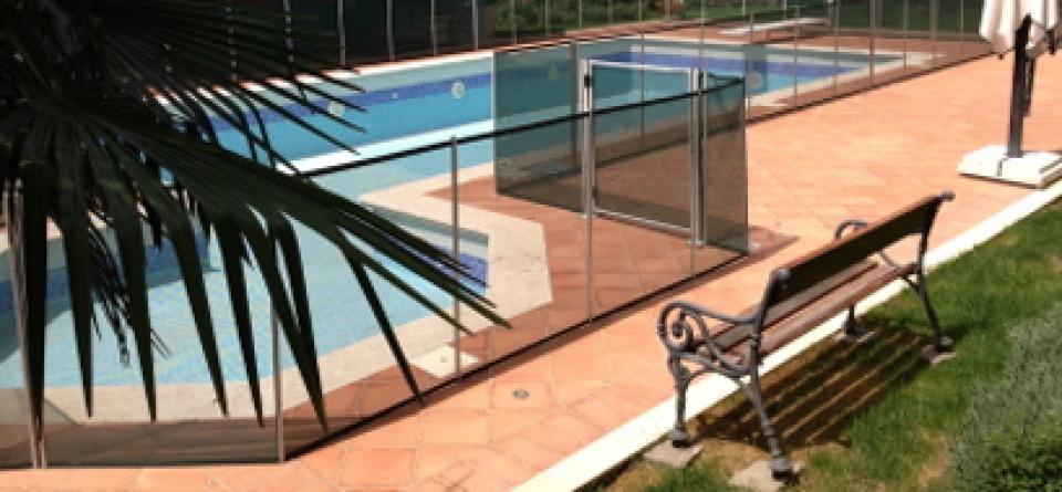 recinzione di sicurezza per piscina
