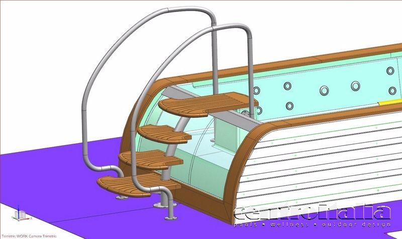 Grafico costruzione idromassaggio su mega yacht